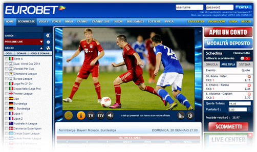 streaming calcio basket tennis